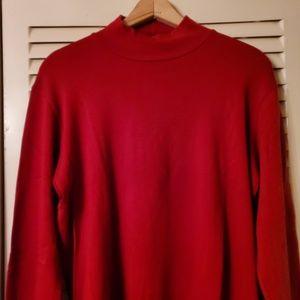 Jones New York Sport Red MockTurtleNeck Sweater
